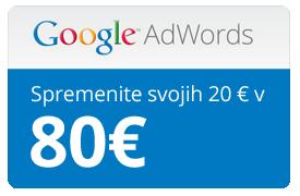 Google oglaševanje cena